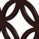 Japanese Circles Dark Brown