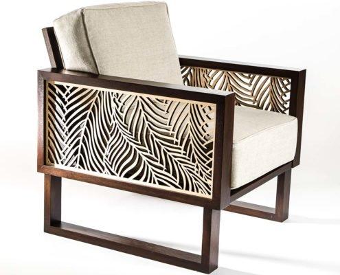 Brown modern contemporary lounge chair palm Twist Modern