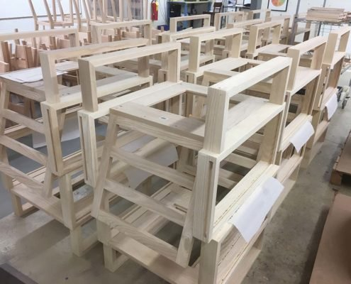 Chair Frames Ready For Stain Twist Modern