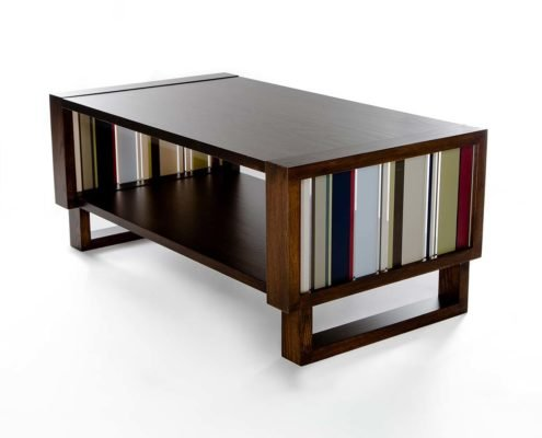 Coffee table accent modern custom Twist Modern