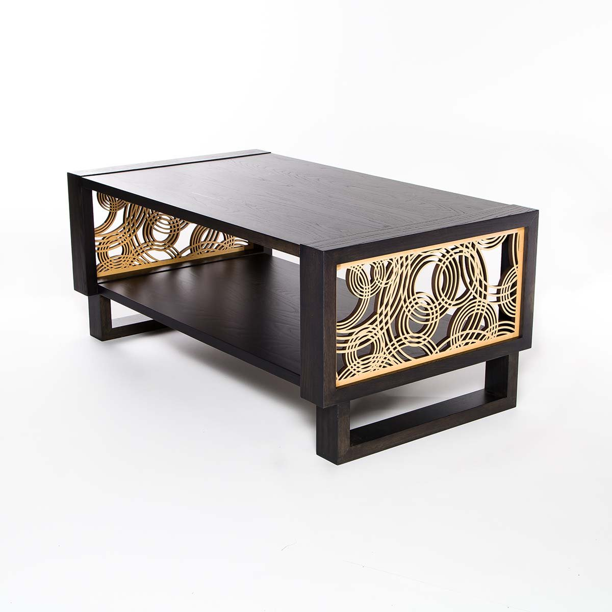 coffee table – twist modern - contemporary modern coffee table made in usa