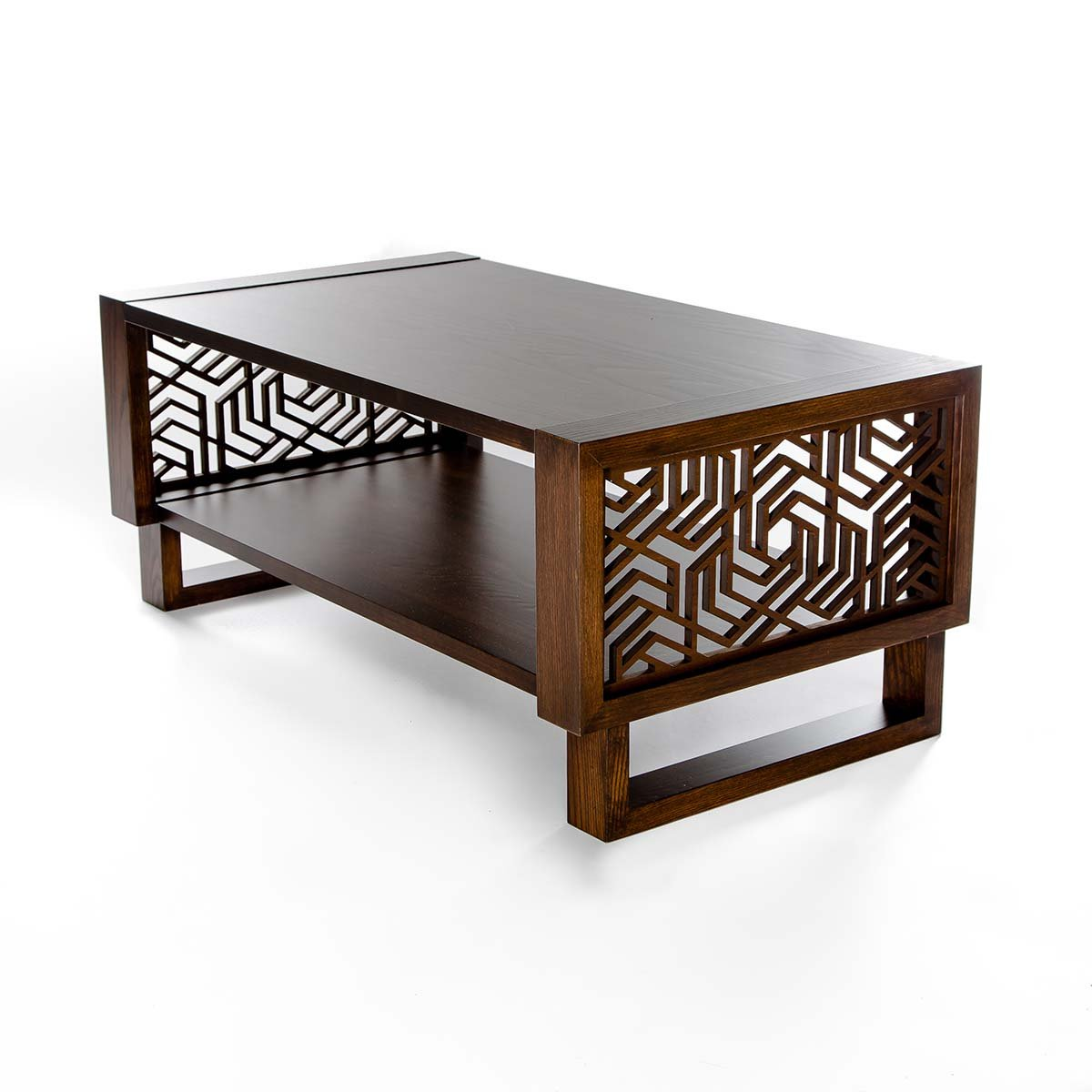 Coffee table twist modern Espresso coffee table