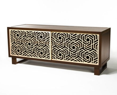 Modern contemporary credenza sideboard media stand Twist Modern