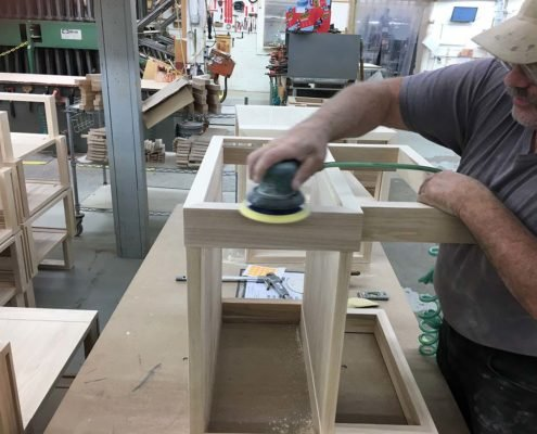 Sanding Table Frame Twist Modern