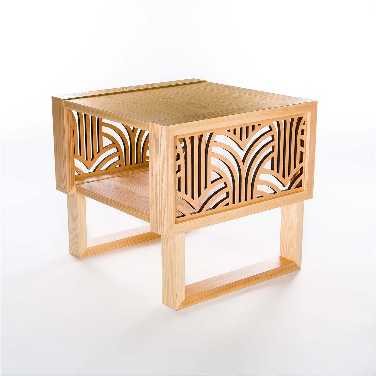 Side End Table Art Deco Custom Twist Modern