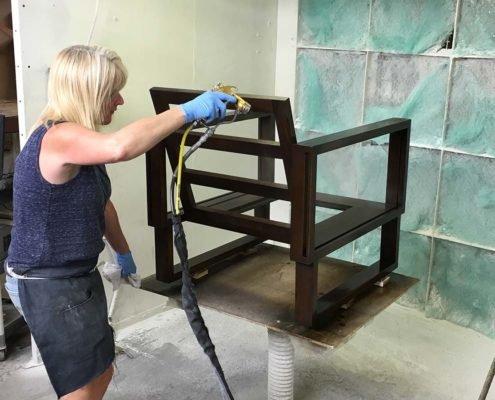Staining Chair Frames Twist Modern