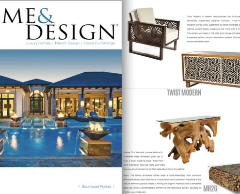 Twist Modern Featured in Home and Design Magazine