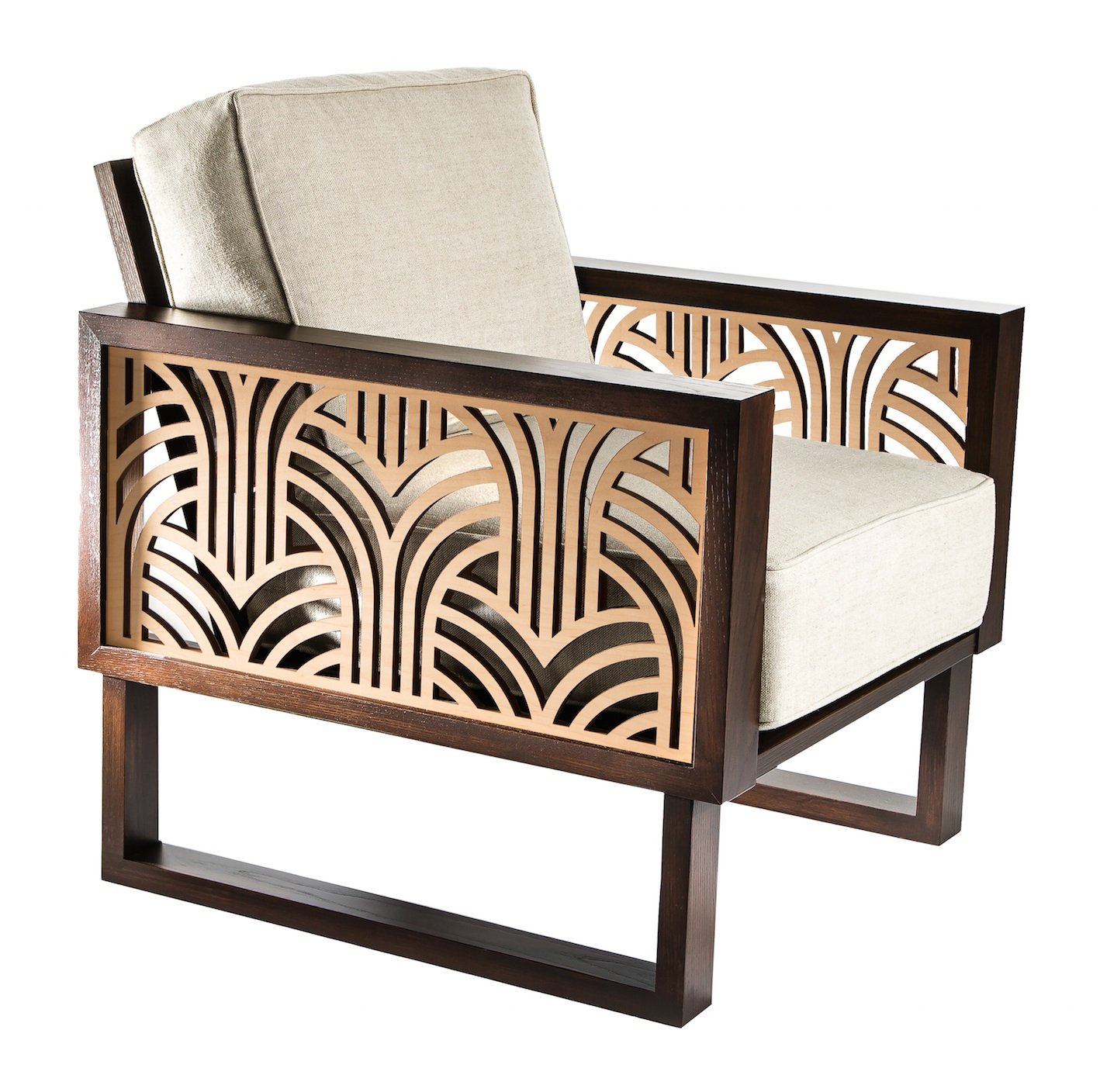 Art deco lounge chair twist modern - Deco lounge eetkamer modern ...