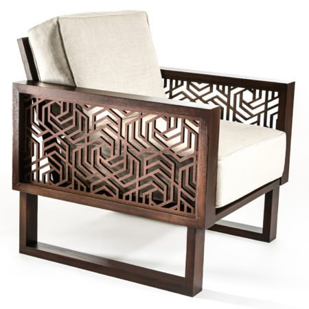 modern brown lounge chair for living room