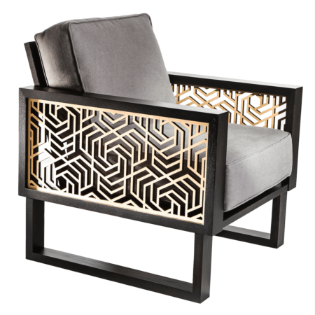 Hexagon Lounge Chair - Gray