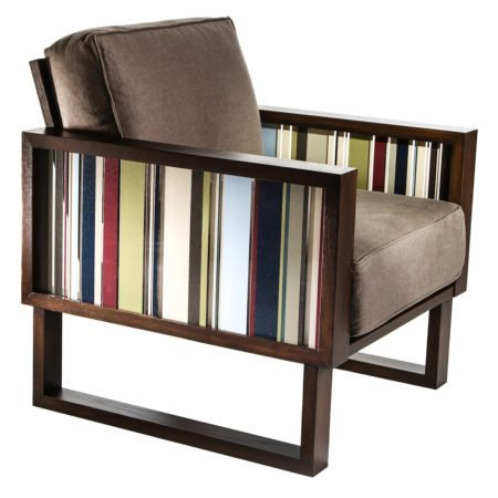 brown mid century modern arm chair for living room
