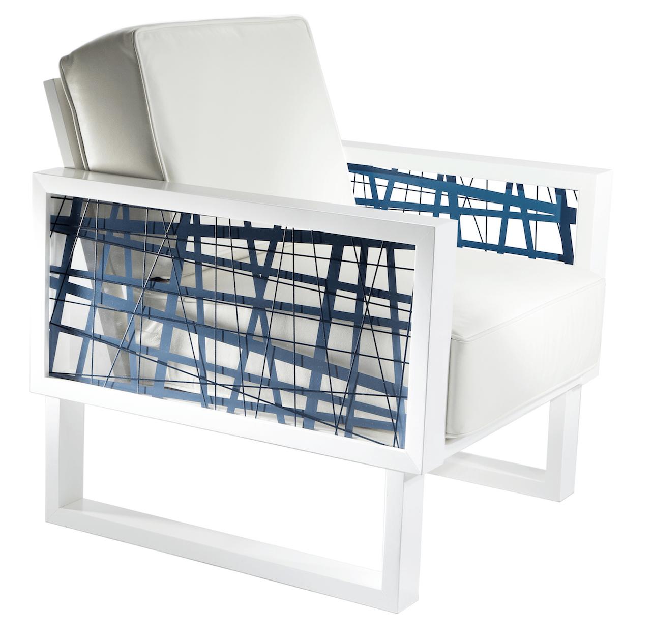Amazing Random Line Leather Lounge Chair Cjindustries Chair Design For Home Cjindustriesco