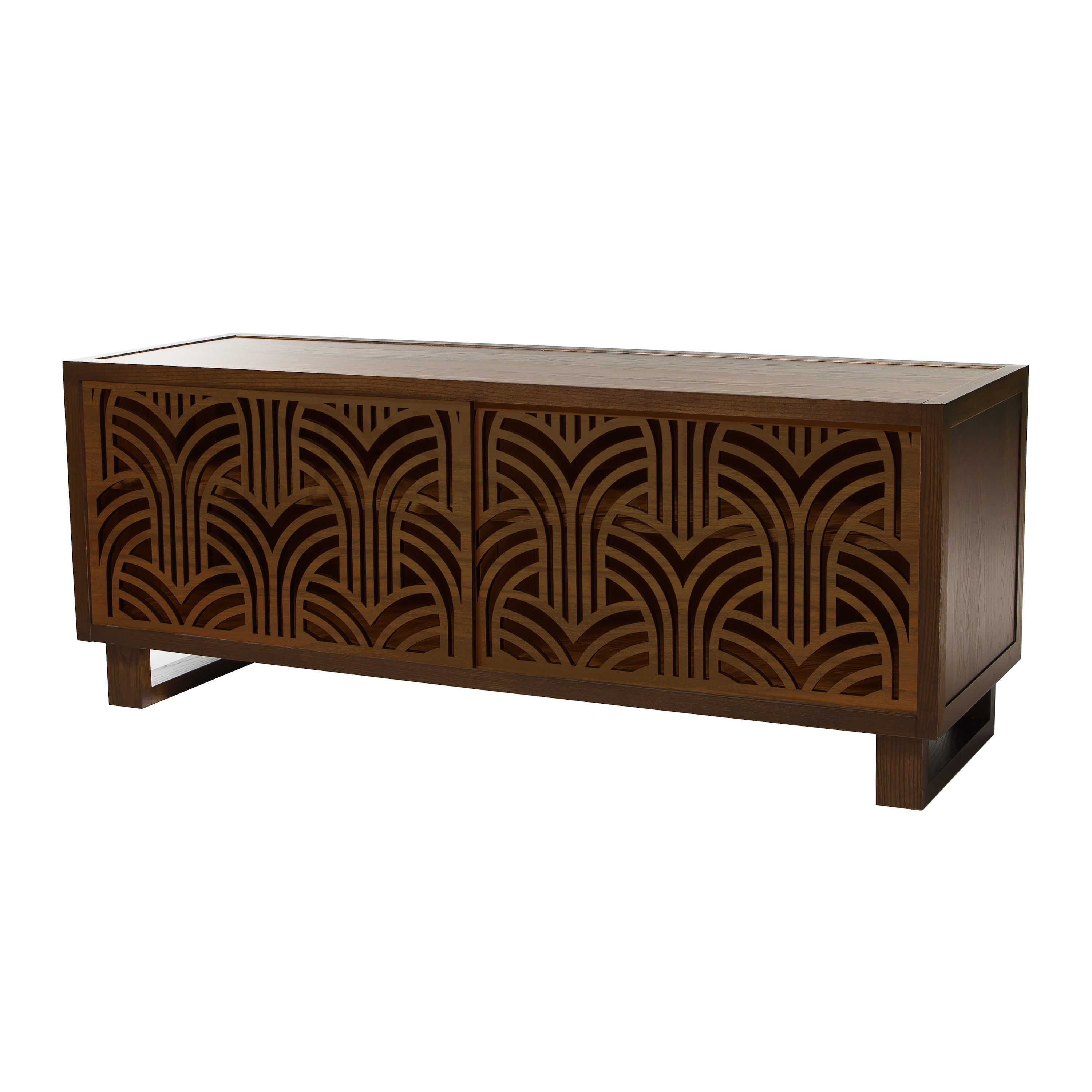 art deco credenza media console espresso espresso twist modern. Black Bedroom Furniture Sets. Home Design Ideas