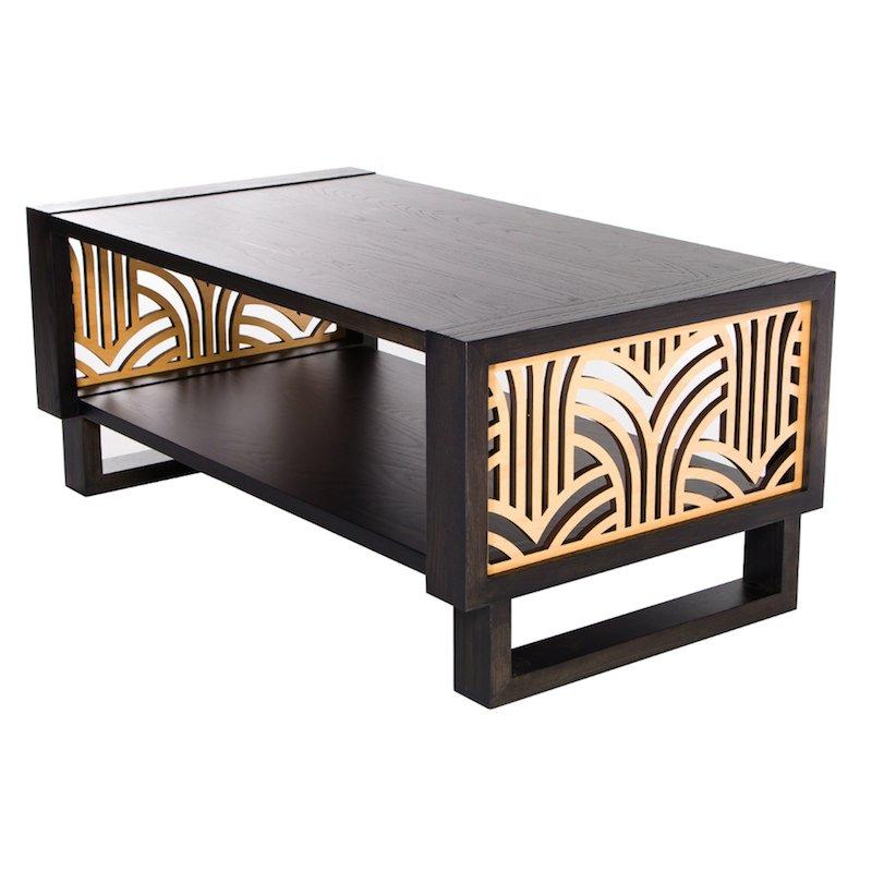 Art Deco Coffee Table Brisbane: Art Deco Coffee Table, Gray/Natural