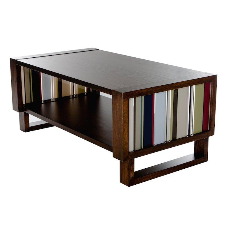 Color Bars Coffee Table, Espresso/Acrylic