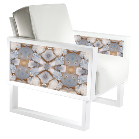 white leather arm chair for living room
