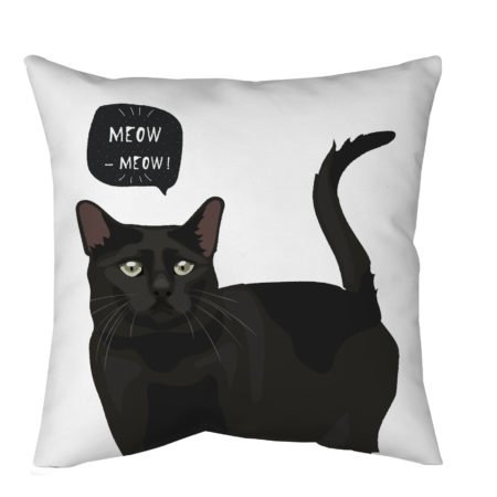 Black Cat Throw Pillow for living room
