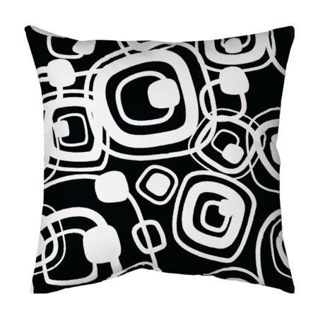 Black & White Pop Circle Pillow