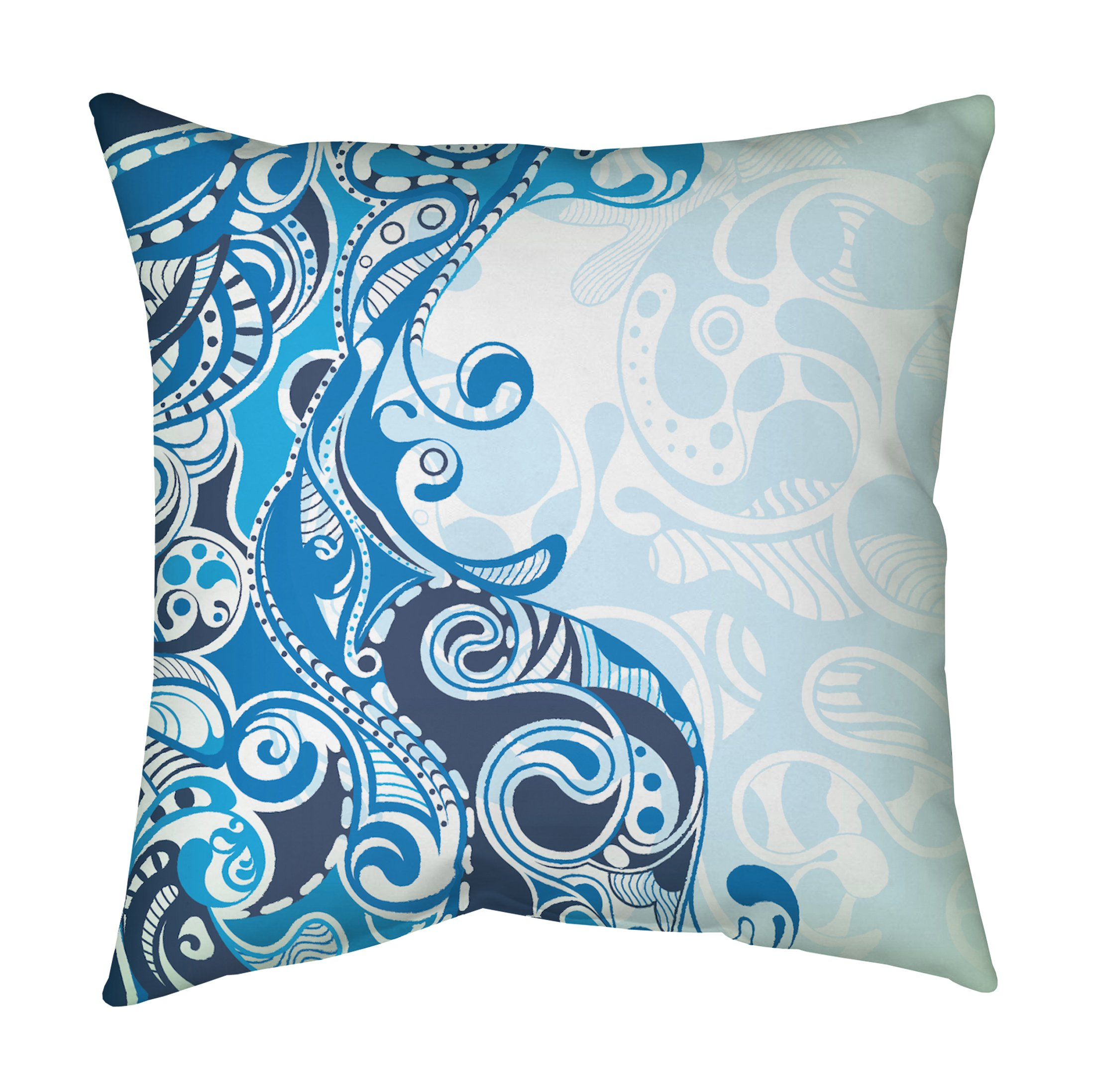 Blue Fish Accent Pillow By Blend Home Twist Modern