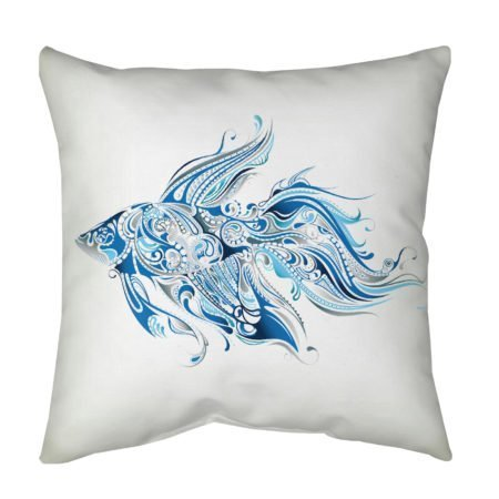 Blue Fish Throw Pillow for Accent Pillow