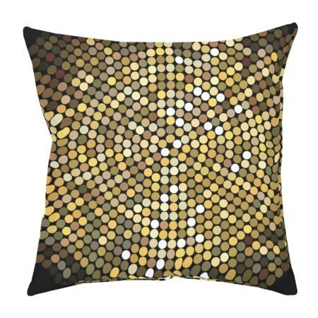 Gold Disco Ball throw pillow for living room and bedroom