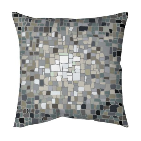 Gray Mosaic throw pillow for living room