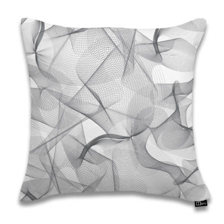 White and Gray graphic accent pillow