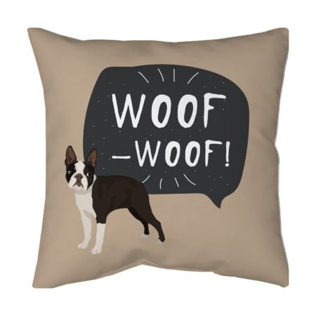 French Bulldog throw pillow for living room