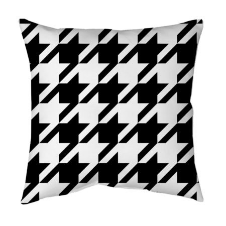 Houndstooth throw pillow for living room