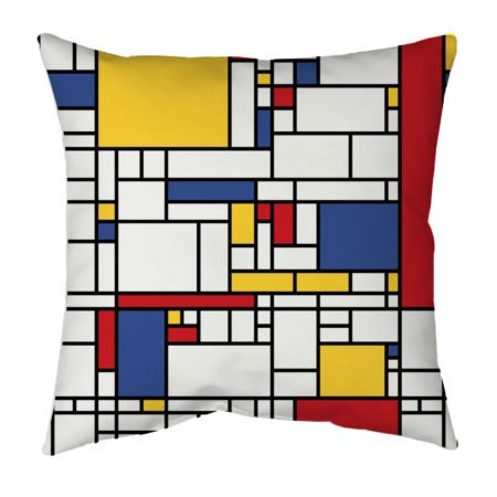 Mondrian accent pillow for living room or bedroom