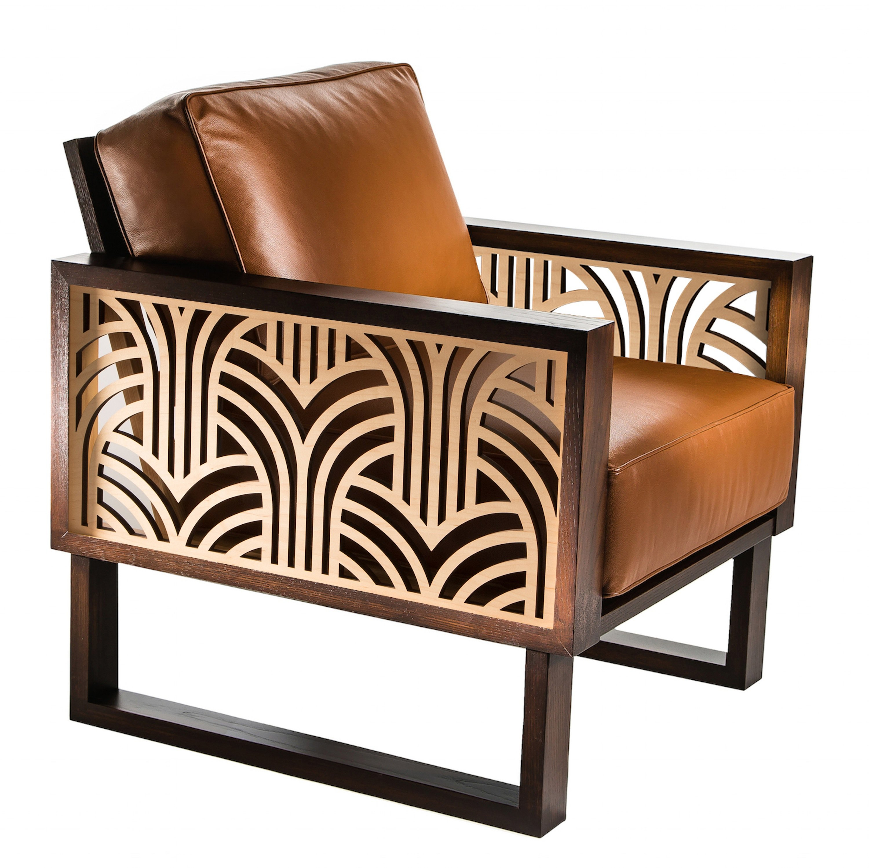 Terrific Art Deco Leather Lounge Chair Spiritservingveterans Wood Chair Design Ideas Spiritservingveteransorg