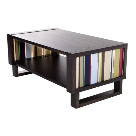 Color Bars Coffee Table, Gray/Acrylic