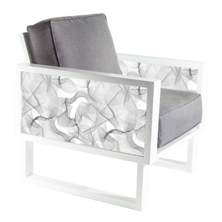 White and Gray Modern armchair for living room