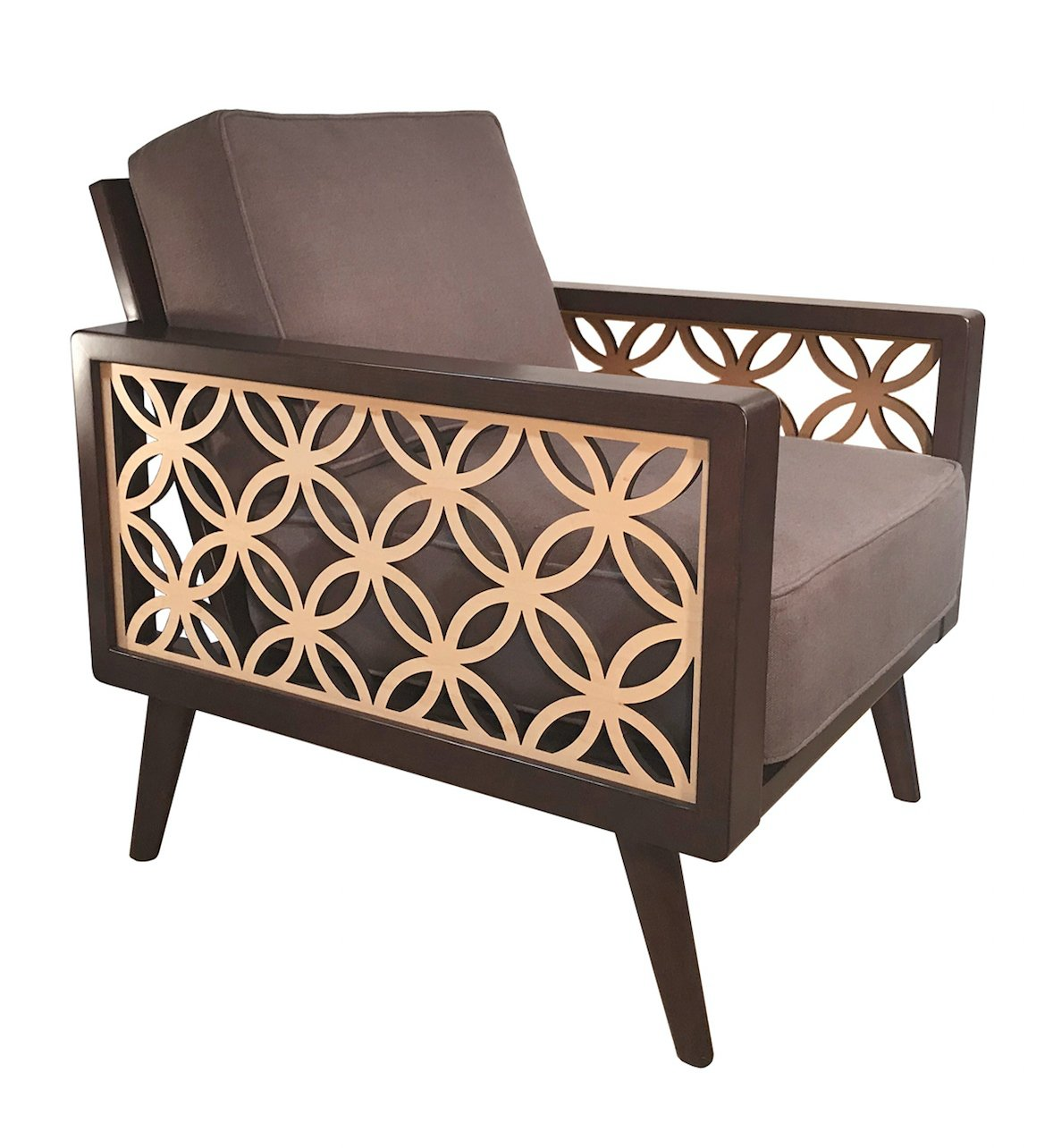 interlaced circles mid century modern lounge chair twist. Black Bedroom Furniture Sets. Home Design Ideas