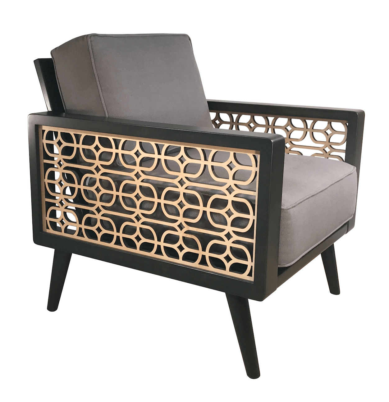 Lounge Grille Mid Century Modern Lounge Chair Gray