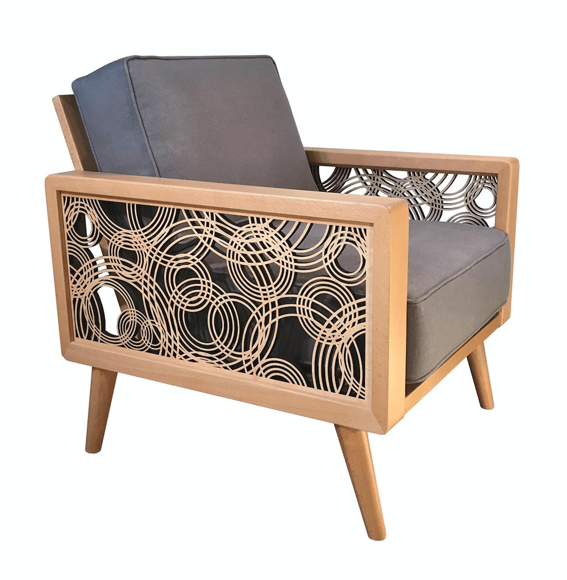 Cool Rain On Water Mid Century Modern Lounge Chair Natural Gray Inzonedesignstudio Interior Chair Design Inzonedesignstudiocom