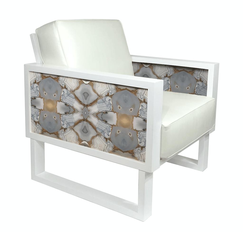 Super Kaleidoscopia Leather Lounge Chair By Brenda Houston Cjindustries Chair Design For Home Cjindustriesco