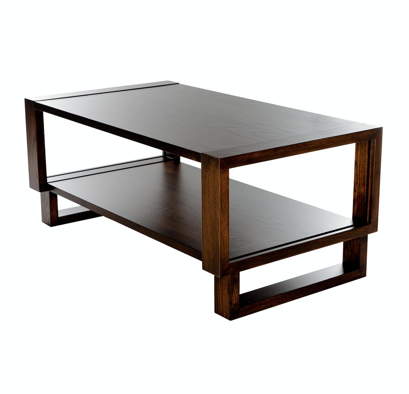 Twist Modern Frame Coffee Table Espresso Twist Modern